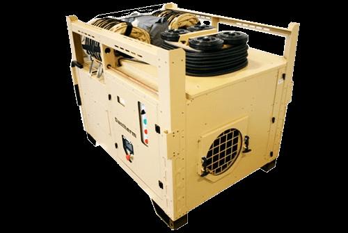 Aire acondicionado AC-M16 con accesorios.